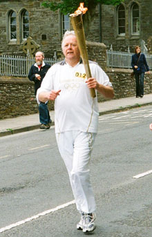 Orkney Island veterinary surgeon and Olympic torchbearer Willie Stewart MRCVS
