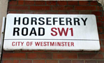 Horseferry Road sign